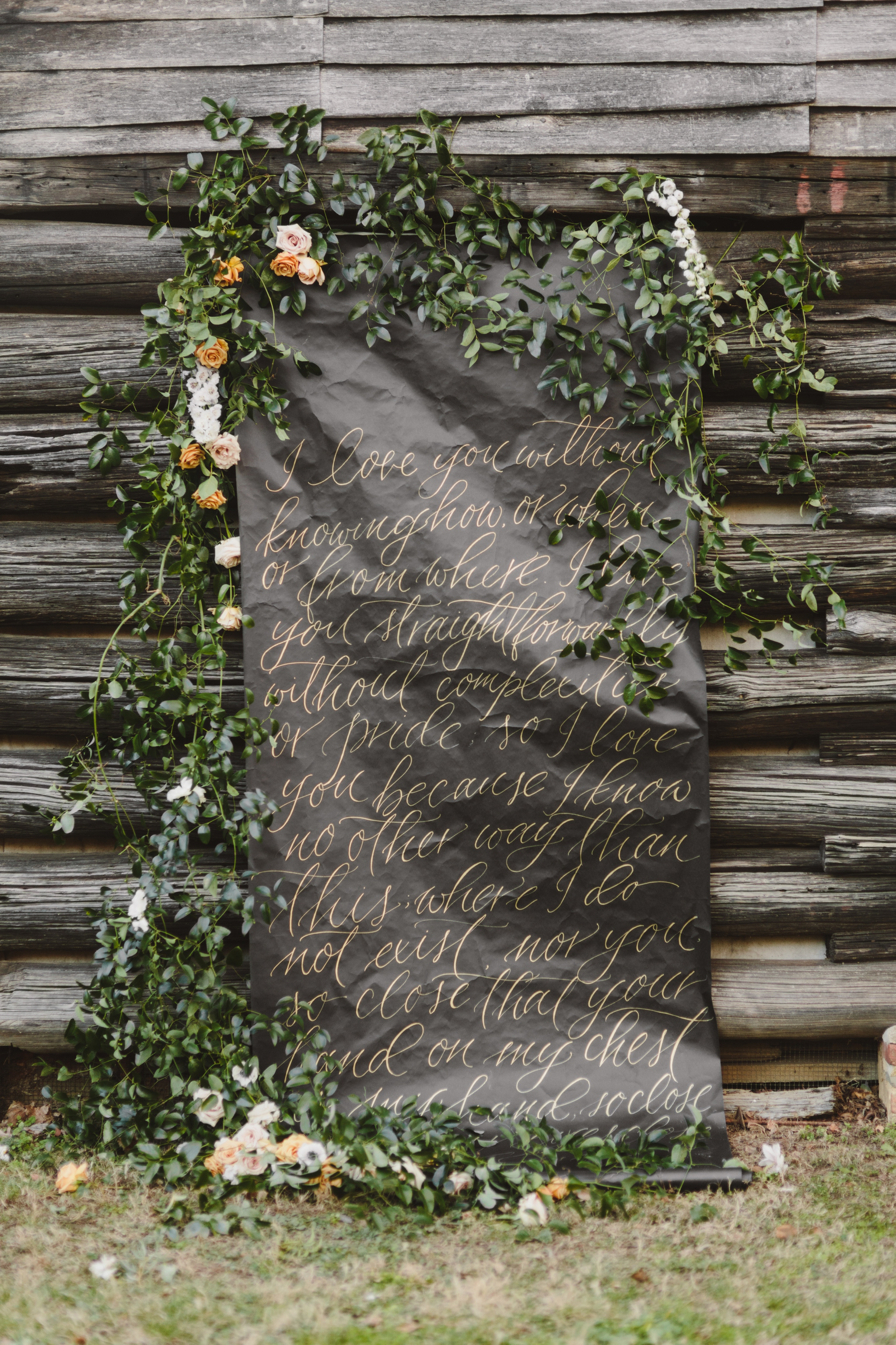 Earthy Calligraphy | Annapolis Maryland | Kate Ann Photography