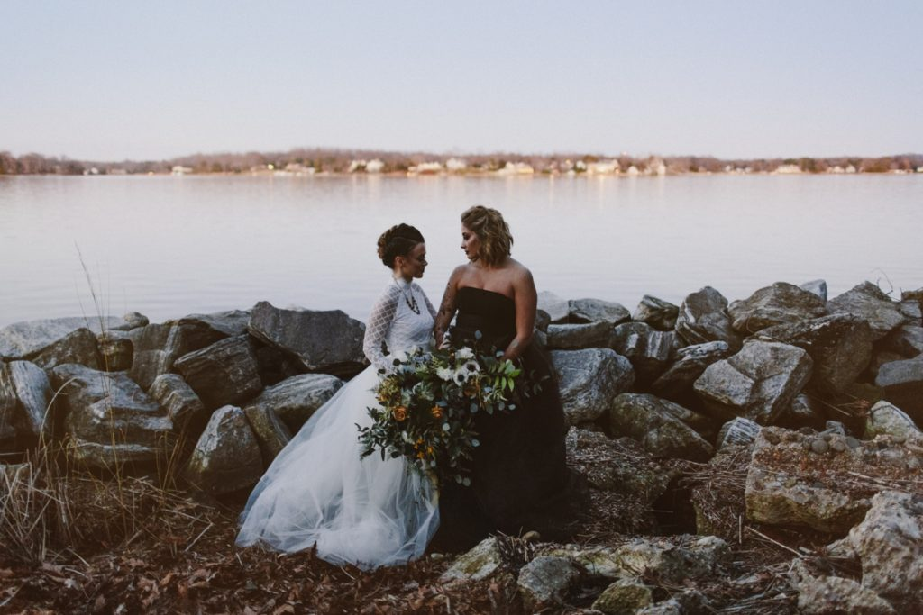 Edgy Same-Sex Elopement | Annapolis Maryland | Kate Ann Photography