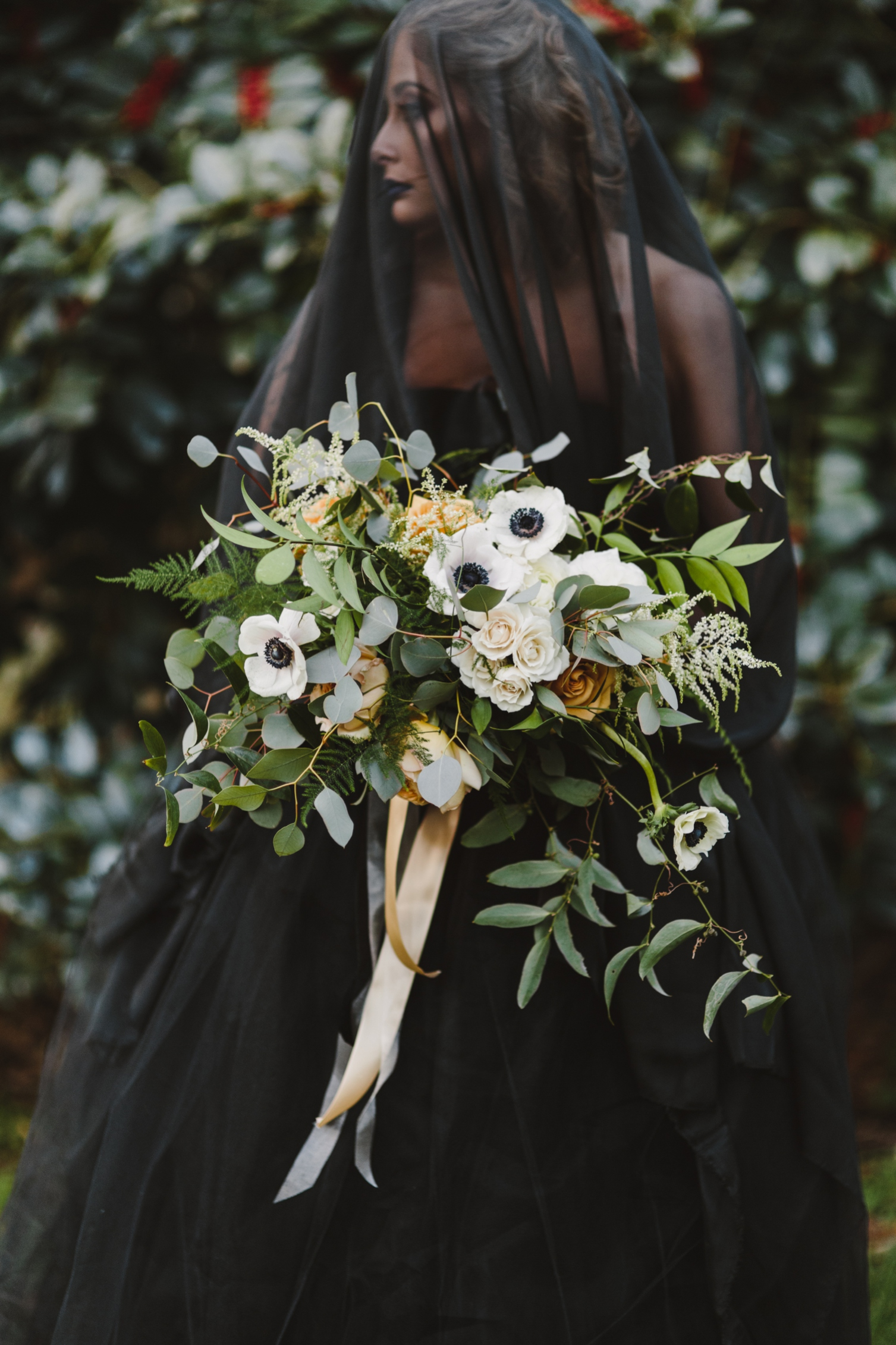 Edgy Elopement | Black Wedding Dress | Annapolis Maryland | Kate Ann Photography