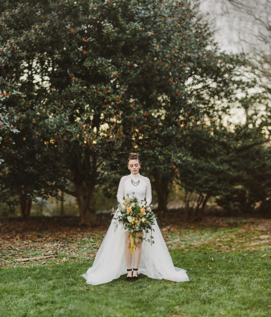 Edgy  Elopement | High-low Wedding Gown | Annapolis Maryland | Kate Ann Photography