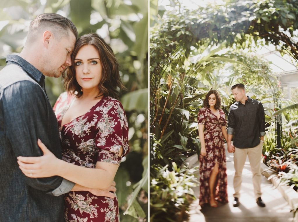 Baltimore Maryland Greenhouse Engagement Session   by Wedding Photographer Kate Ann Photography