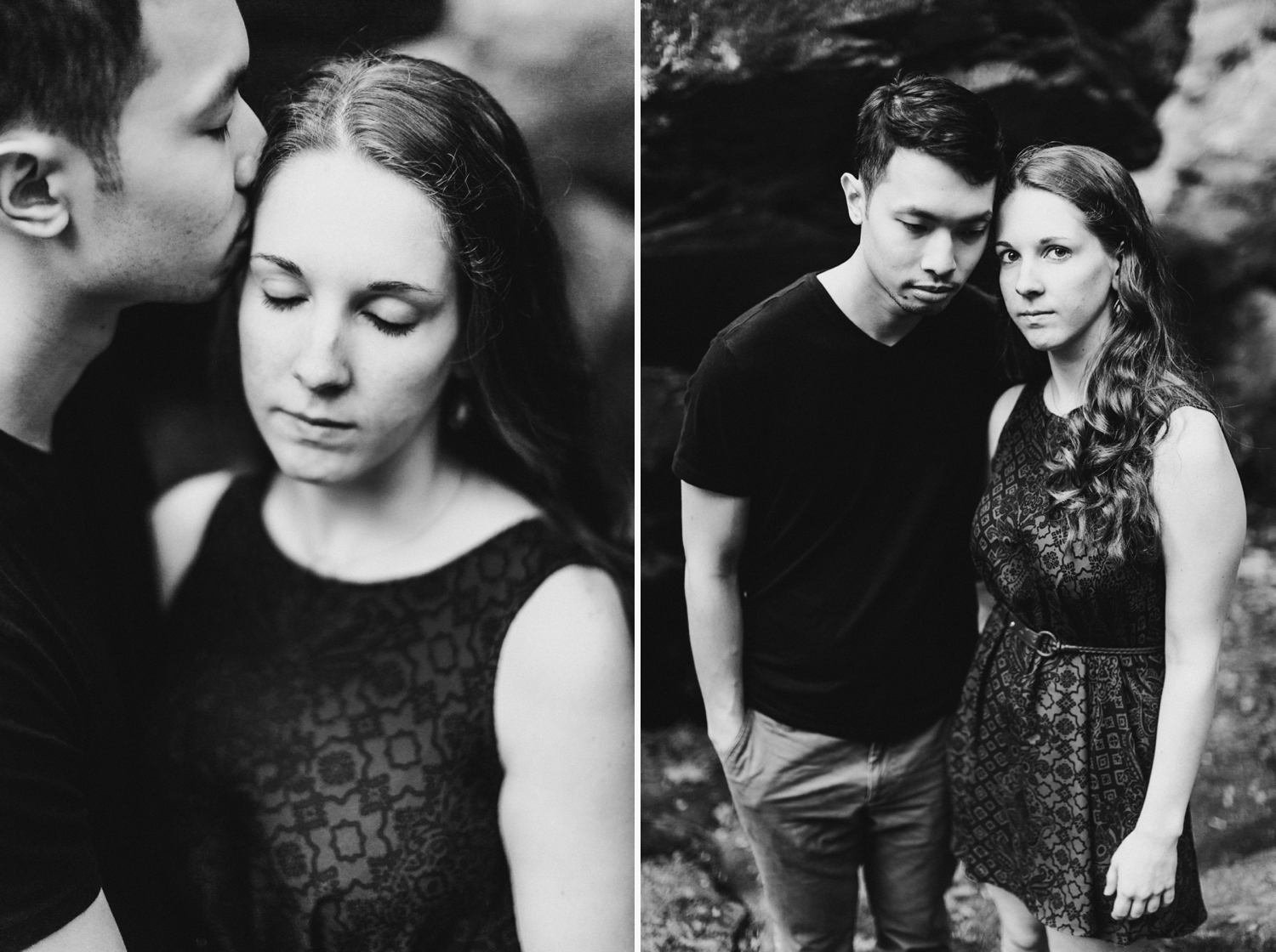 Waterfall Maryland Engagement Session   Kilgore Falls   by Baltimore Wedding Photographer Kate Ann Photography