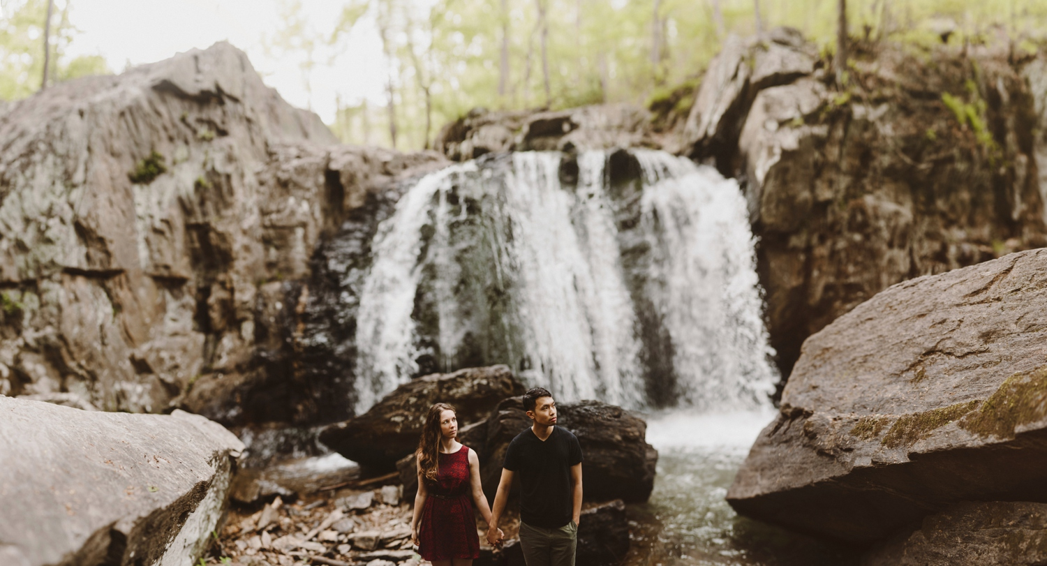 Waterfall Maryland Engagement Session | by Baltimore Wedding Photographer Kate Ann Photography