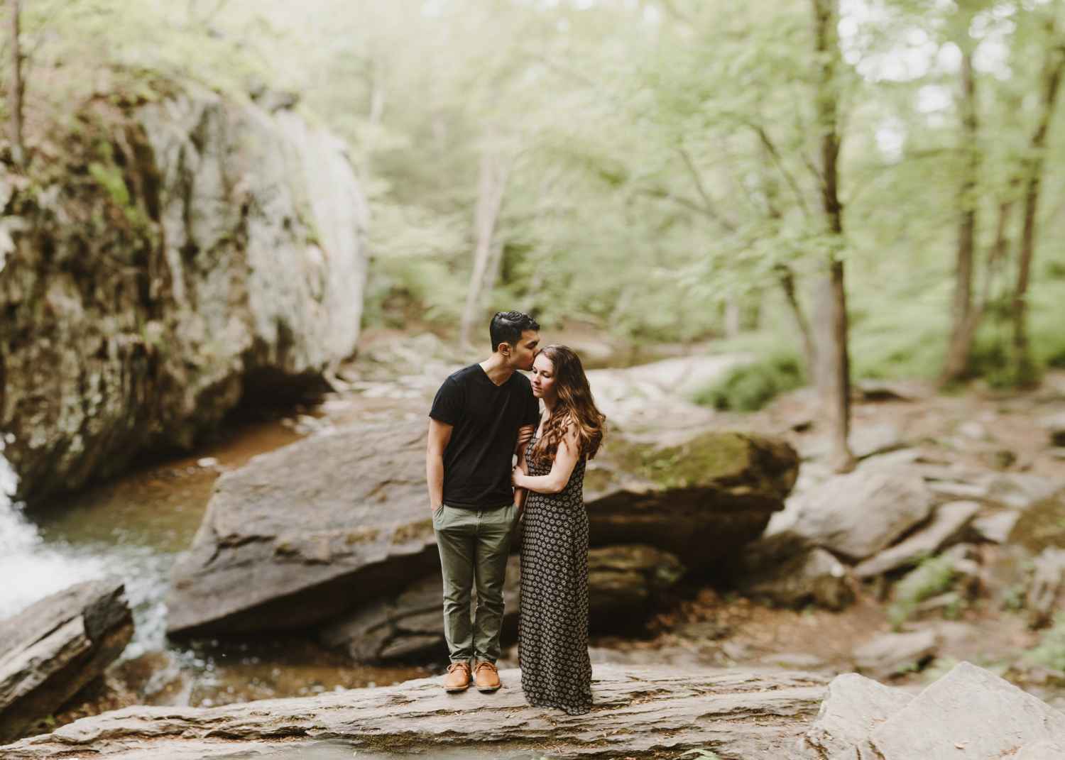 Waterfall Maryland Engagement Session | Kilgore Falls | by Baltimore Wedding Photographer Kate Ann Photography