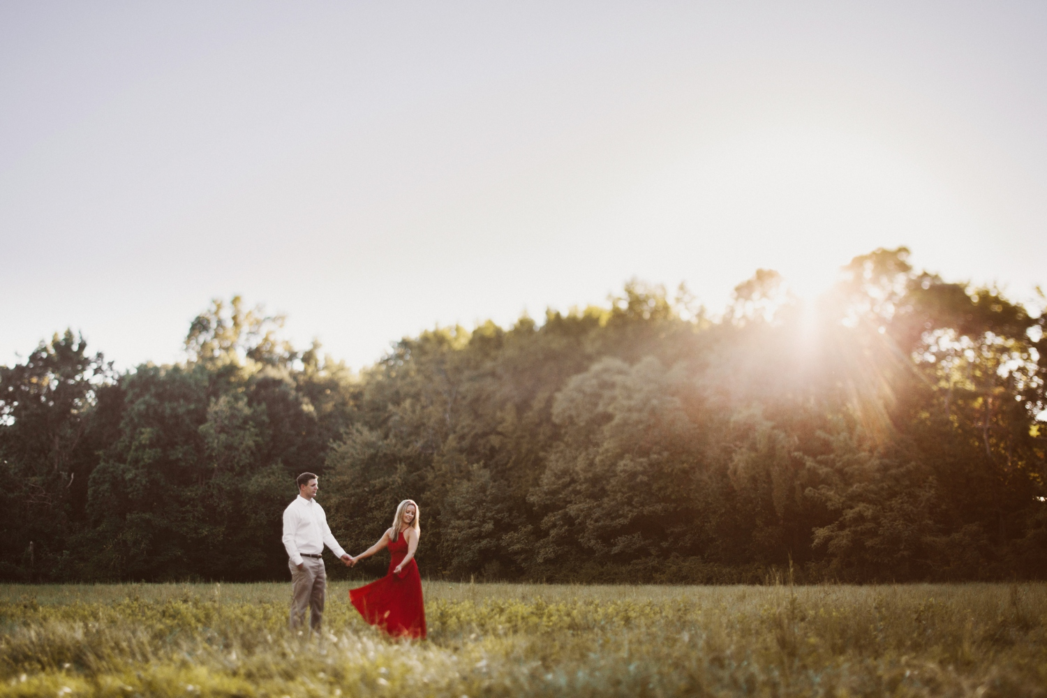 baltimore-maryland-forest-sunset-engagement-session-red-dress-annapolis-kate-ann-photography-photo_0092