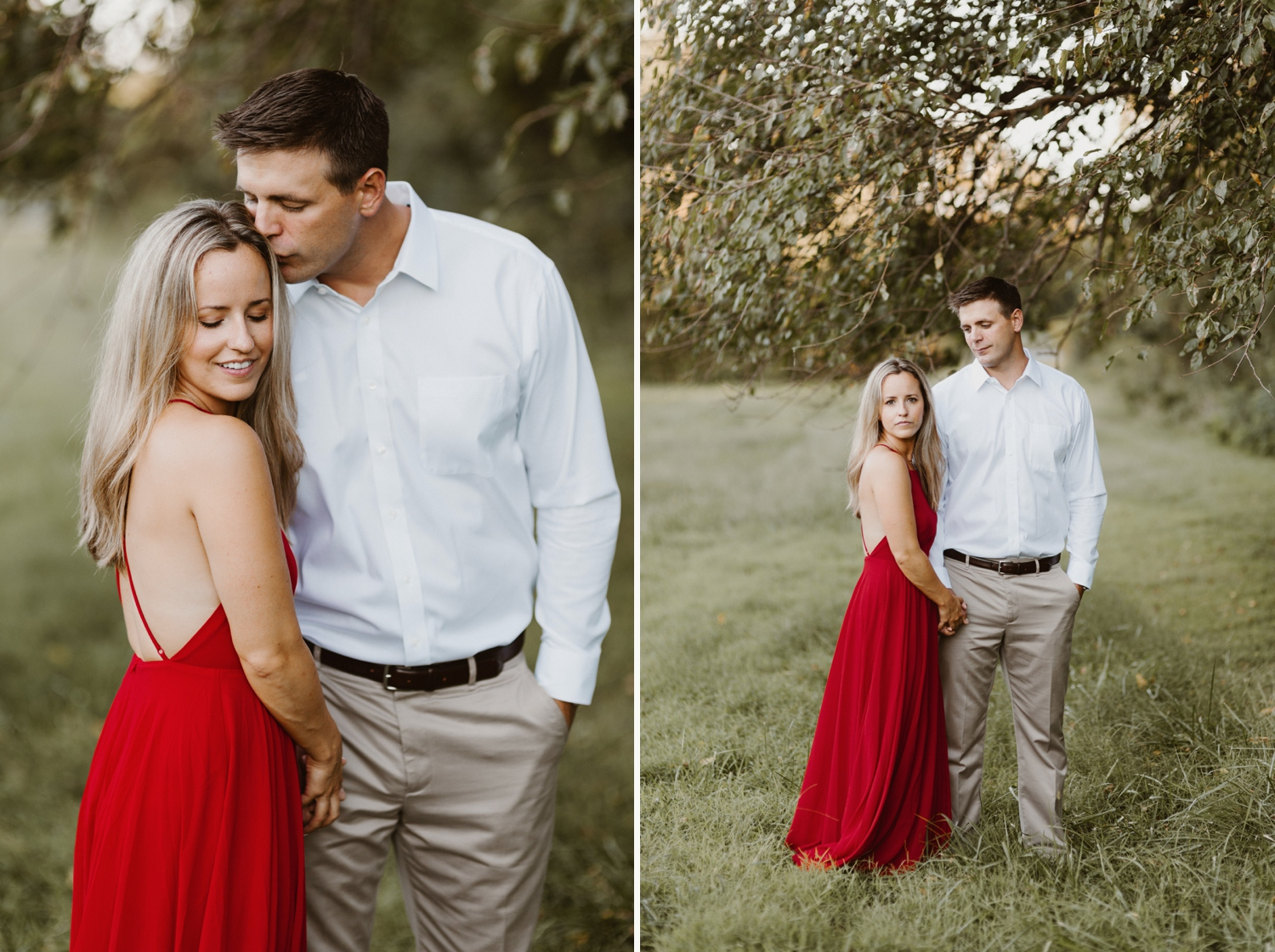 Baltimore Maryland Forest Sunset Engagement Session Red Dress Annapolis Kate Ann Photography Photo 0098