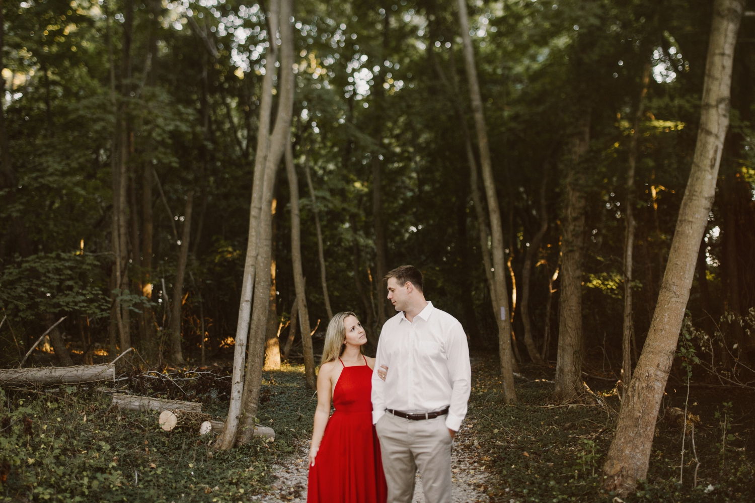 baltimore-maryland-forest-sunset-engagement-session-red-dress-annapolis-kate-ann-photography-photo_0117