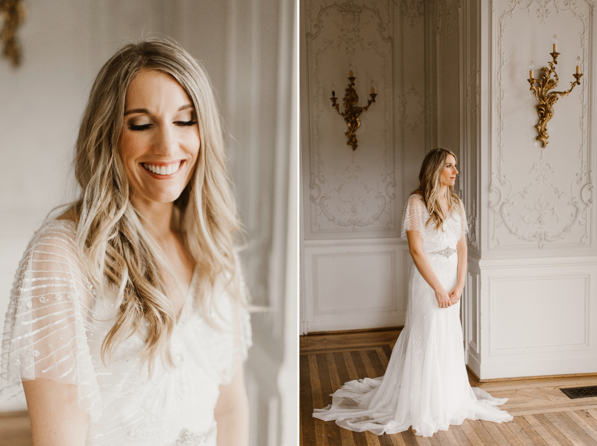 Cylburn Arboretum Wedding | by Baltimore, Maryland Photographer Kate Ann Photography | Elegant Boho Wedding Dress