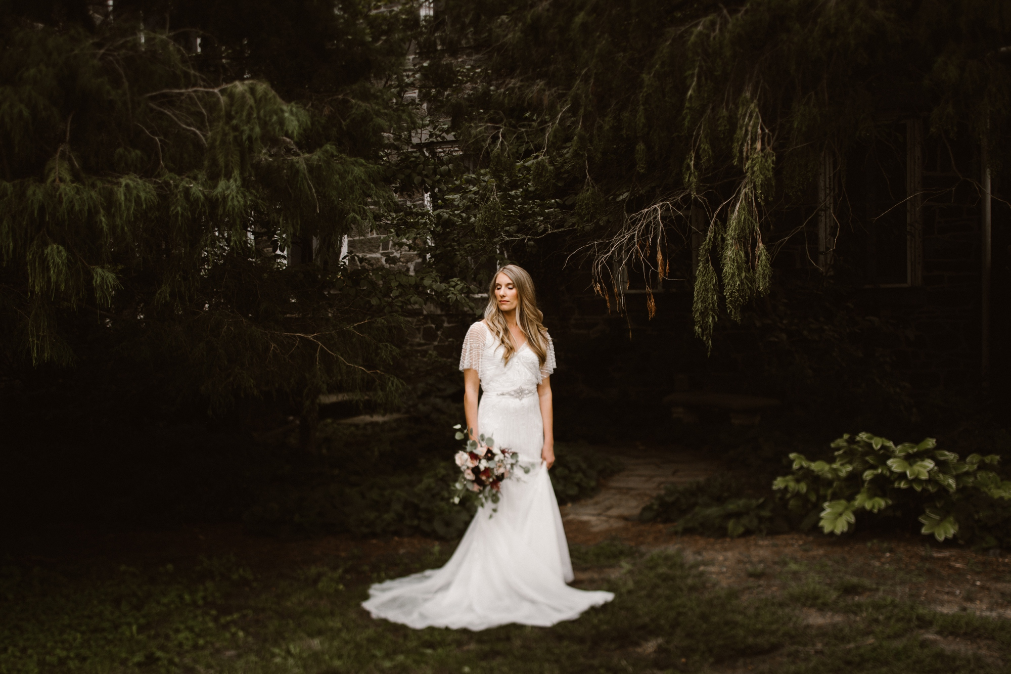 Cylburn Arboretum Wedding | by Baltimore, Maryland Photographer Kate Ann Photography | Ethereal Wedding Dress