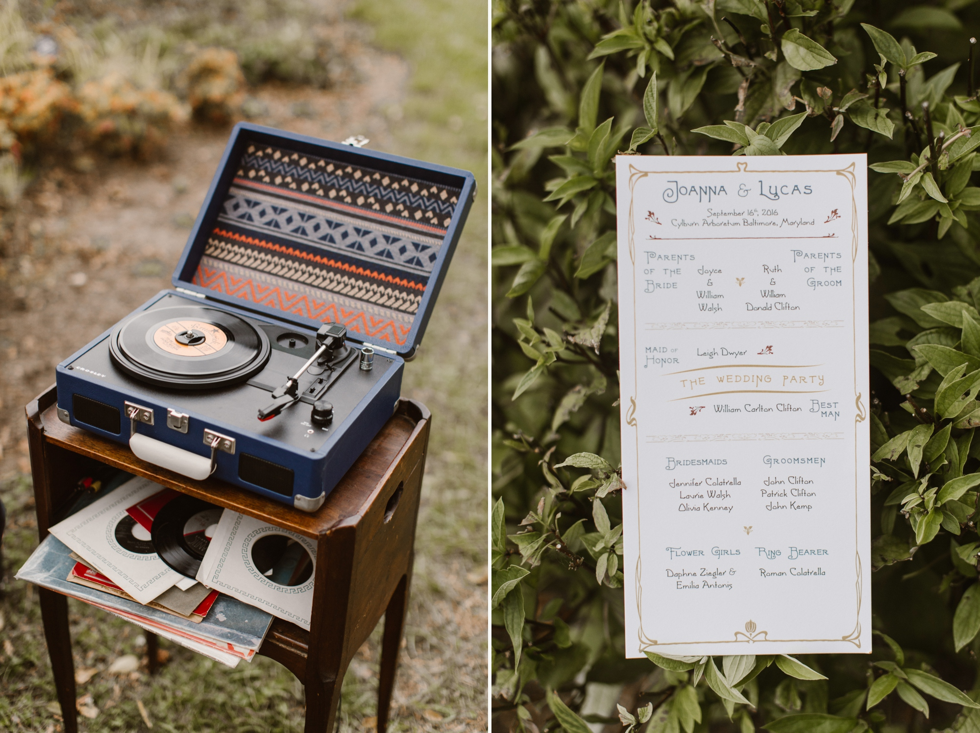 Cylburn Arboretum Wedding | by Baltimore, Maryland Photographer Kate Ann Photography | Vinyl Player for the Ceremony