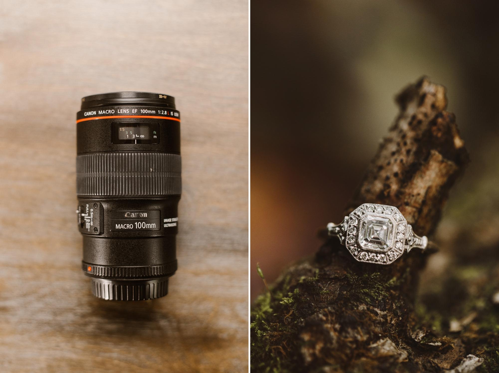 Maryland wedding photographer educational blog post | camera gear bag | best macro lenses for wedding ring photography