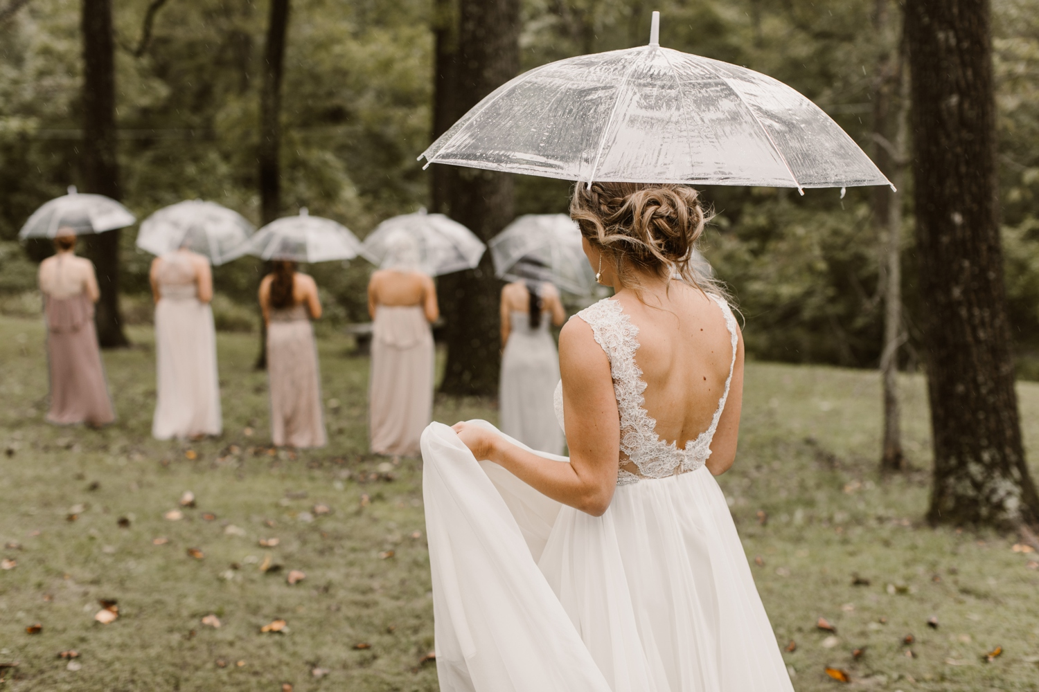 Baltimore wedding photographer outdoor Maryland wedding ceremony   forest earthy Annapolis wedding   outdoors bridesmaids first look