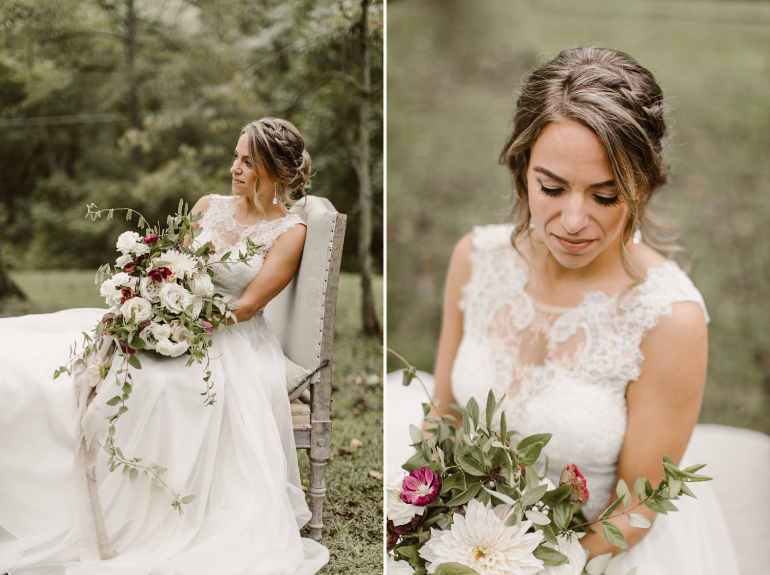 Baltimore wedding photographer outdoor Maryland wedding ceremony   forest earthy Annapolis wedding   outdoors nature bridal portraits