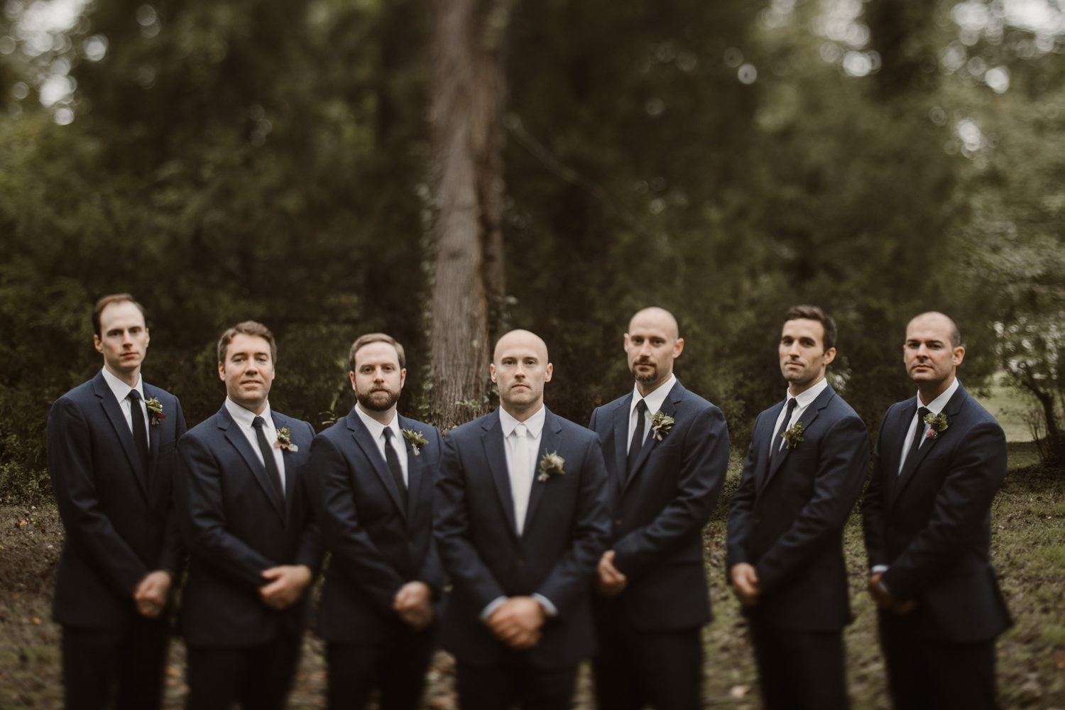 Baltimore wedding photographer outdoor Maryland wedding ceremony | forest earthy Annapolis wedding | outdoors groomsmen portraits