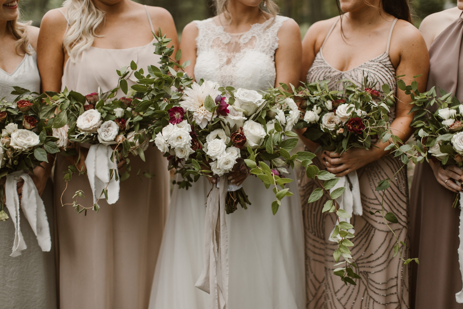 Baltimore wedding photographer outdoor Maryland wedding ceremony   forest earthy Annapolis wedding   bridal party smokebomb portraits