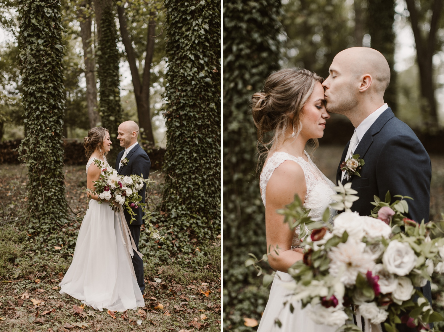 Baltimore wedding photographer outdoor Maryland wedding ceremony   forest earthy Annapolis wedding   outdoors bride and groom portraits