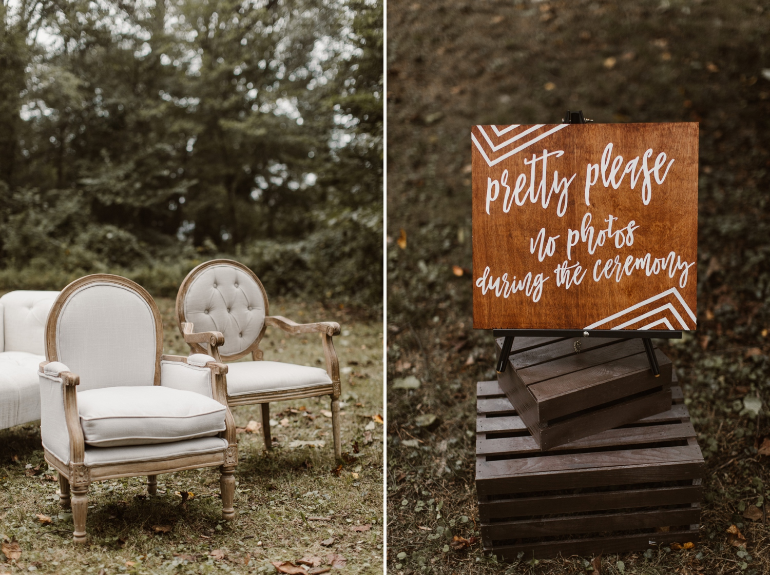 Baltimore wedding photographer outdoor Maryland wedding ceremony   forest earthy Annapolis wedding   outdoor nature wedding details