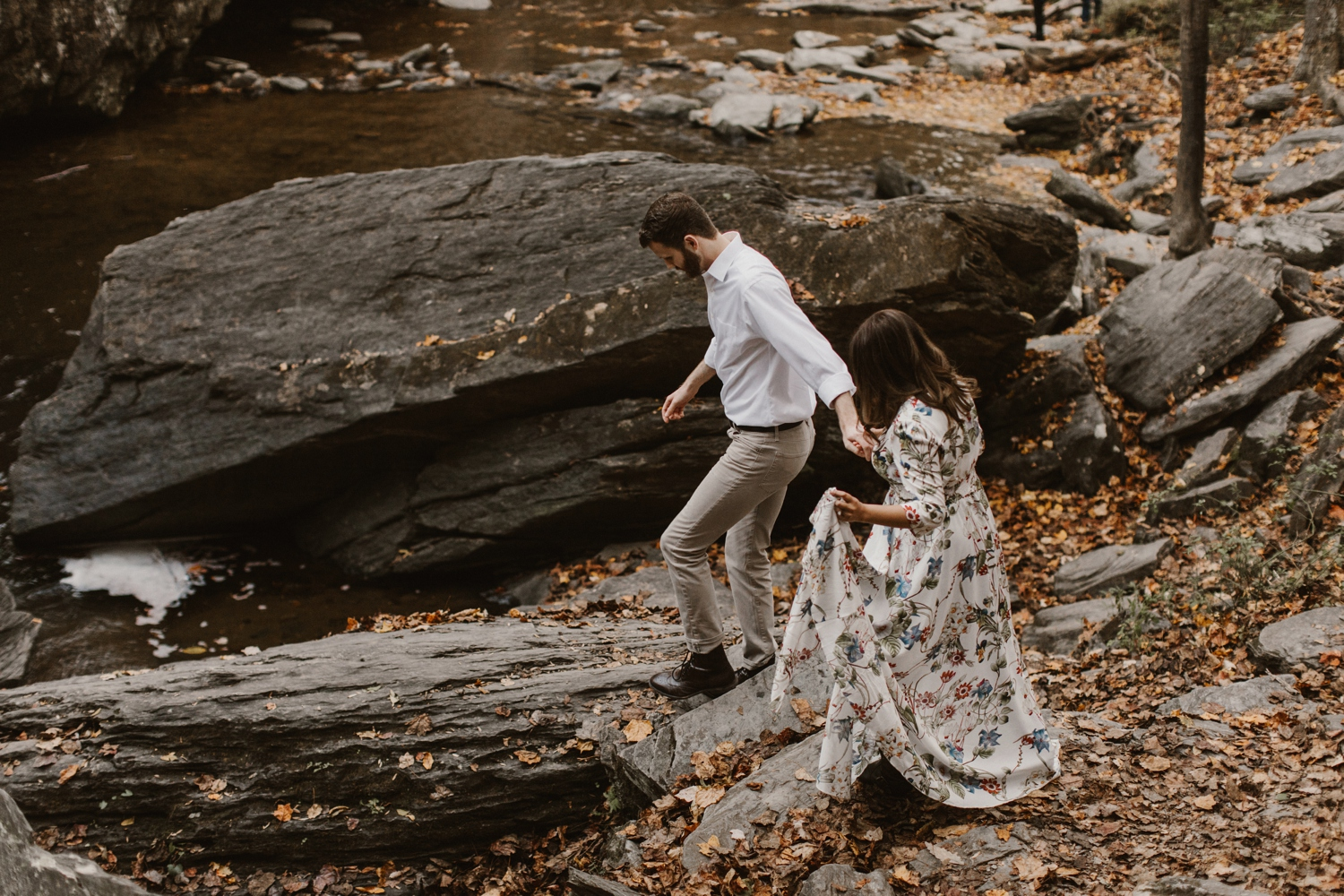 sundas-and-scotts-engagement-88_baltimore-washington-d-c-waterfall-kilgore-engagement-session-maxi-dress-earthy-maryland-wedding-photographer-kate-ann-photography-phot