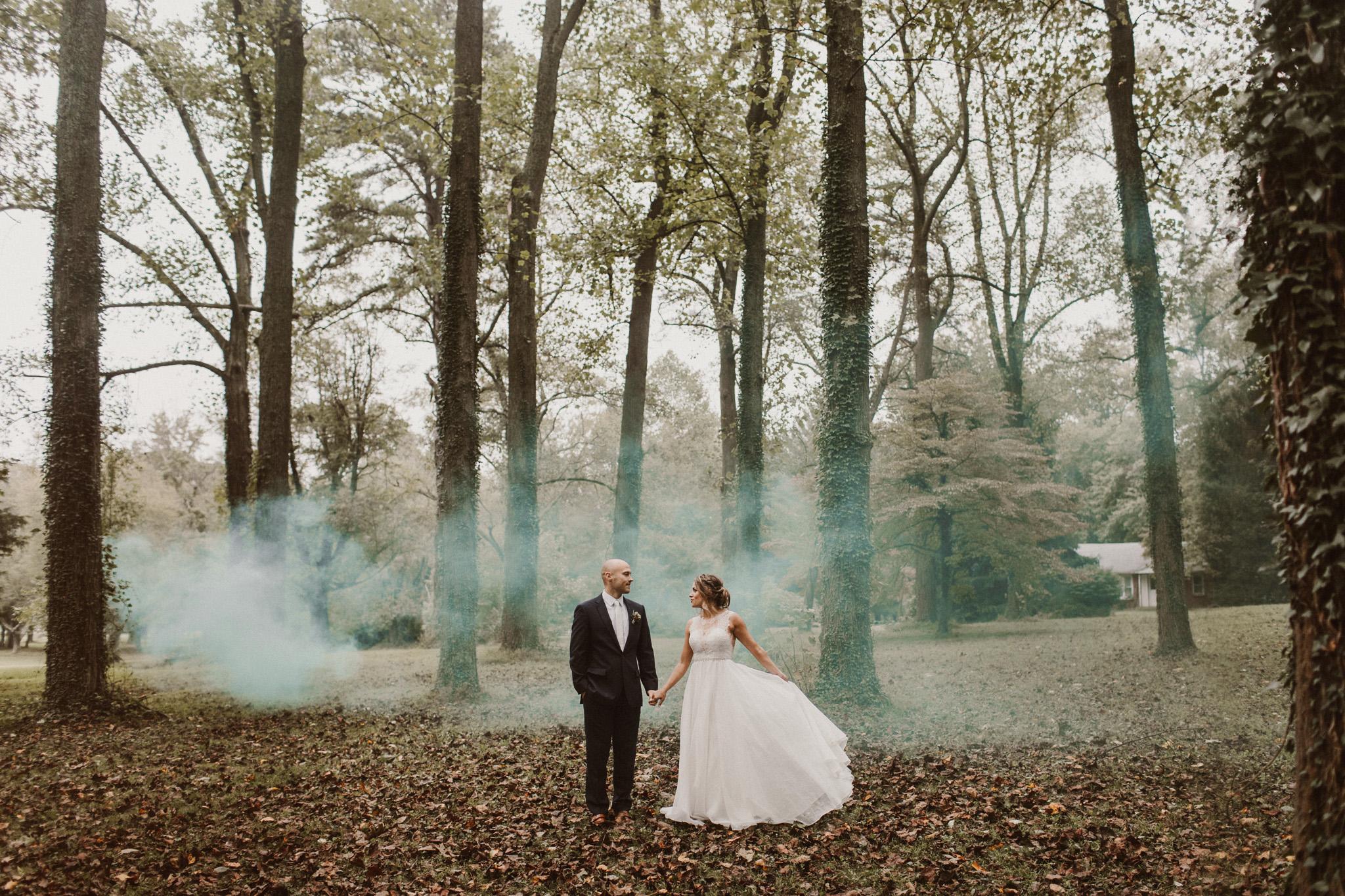 Maryland wedding photographer educational blog post | camera gear bag | smoke bomb wedding photography