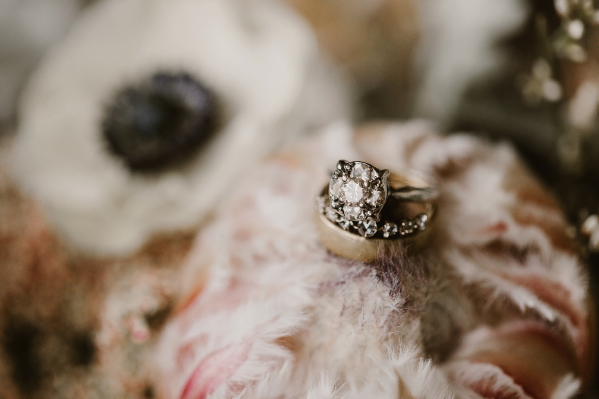 Baltimore Maryland Church & Company Wedding | Vintage Engagement Ring | by Washington, D.C. Photographer Kate Ann Photography