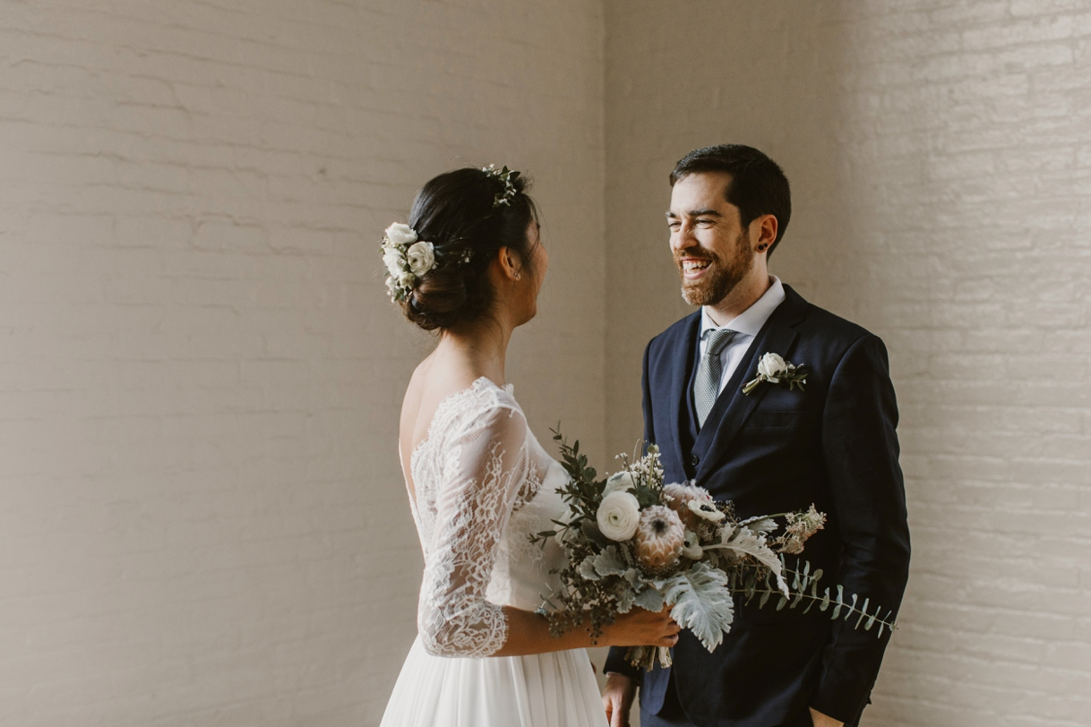 Baltimore Maryland Church & Company Wedding | First Look | by Washington, D.C. Photographer Kate Ann Photography