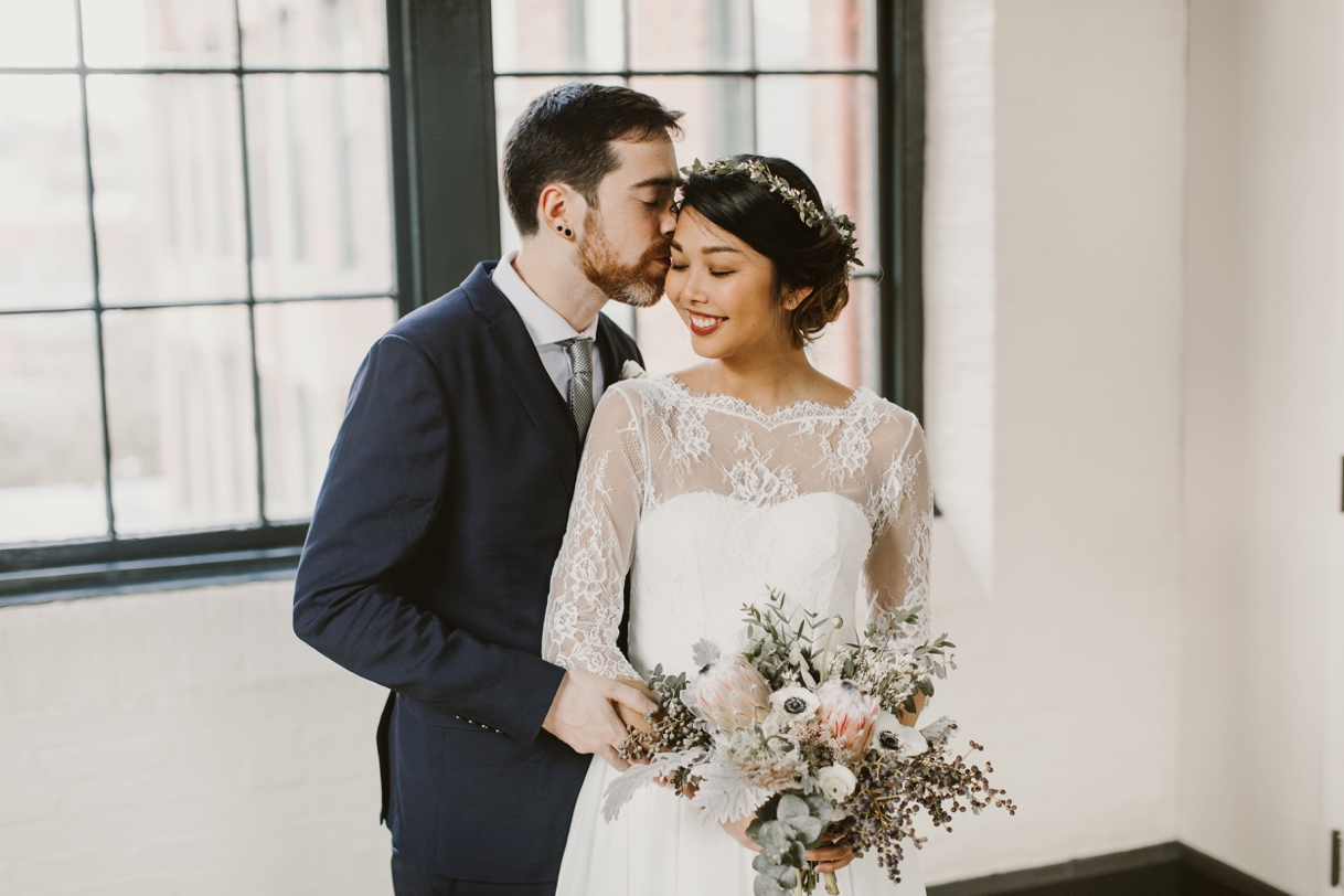 Baltimore Maryland Church & Company Wedding | Bohemian Flower Crown | by Washington, D.C. Photographer Kate Ann Photography