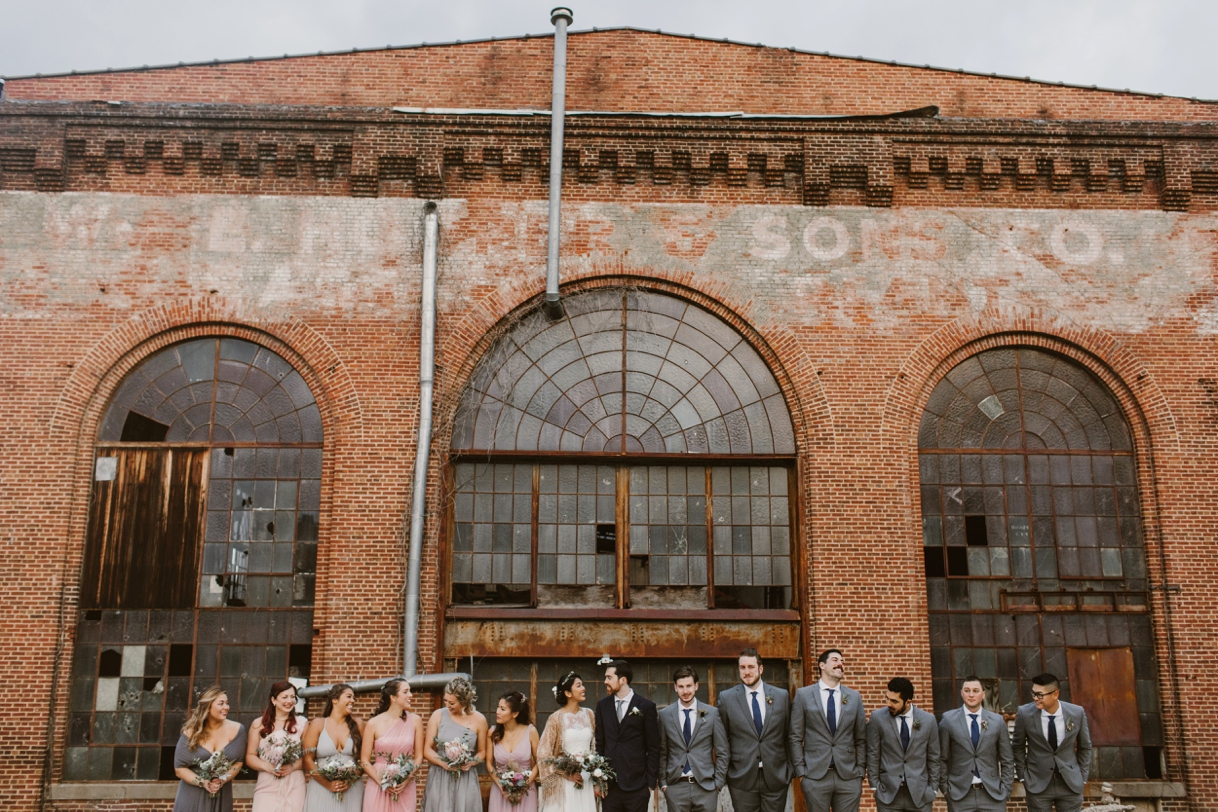 Baltimore Maryland Church & Company Wedding | Bohemian Bridal Party | by Washington, D.C. Photographer Kate Ann Photography
