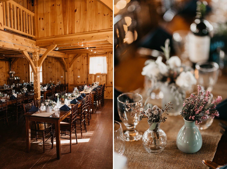 Thousand Acre Farms wedding venue Delaware wedding photographer | indoor wedding reception | Eastern Shore beach wedding