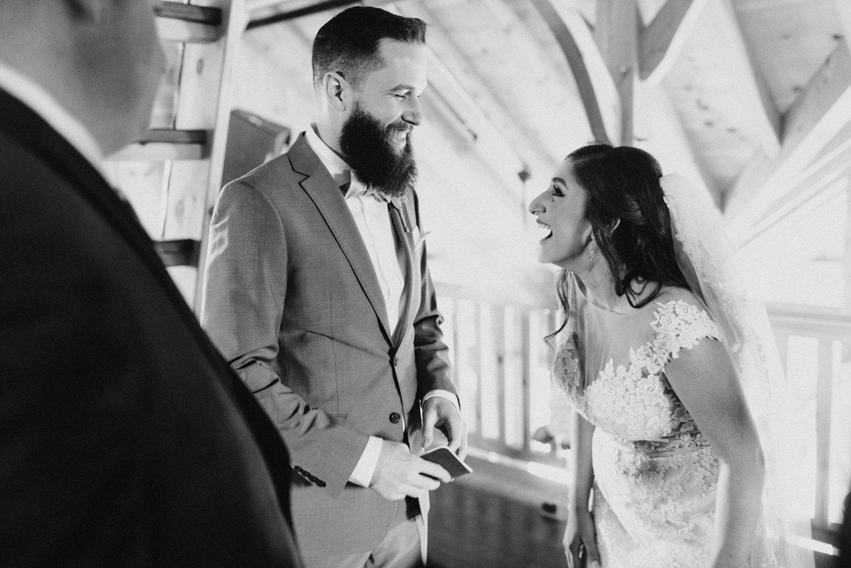 Thousand Acre Farms wedding Delaware wedding photographer | indoor wedding ceremony | Eastern Shore wedding