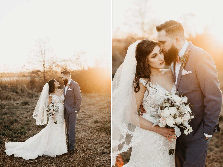 Thousand Acre Farms wedding Delaware wedding photographer | bride and groom sunset portraits | Eastern Shore wedding