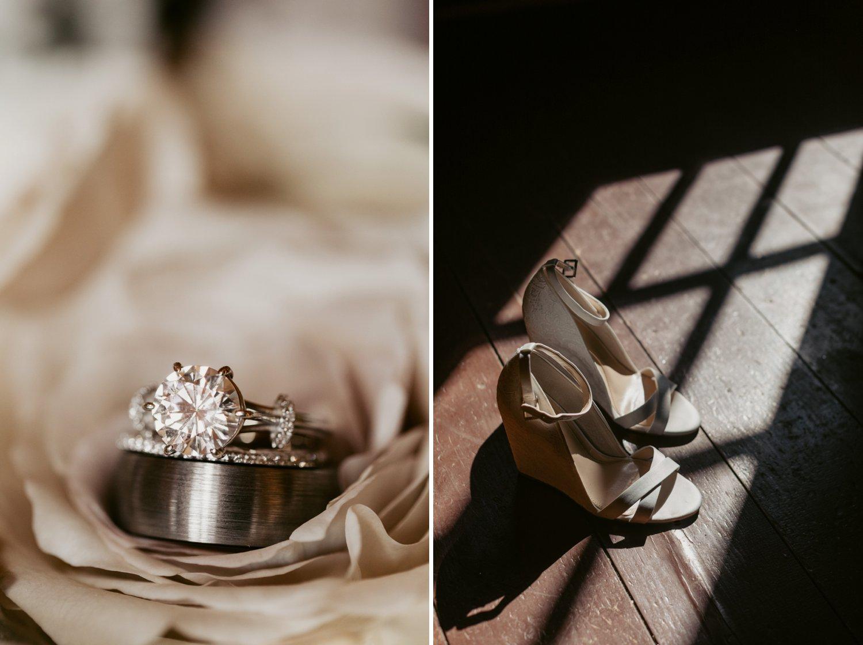Thousand Acre Farms wedding Delaware wedding photographer | rose gold wedding ring