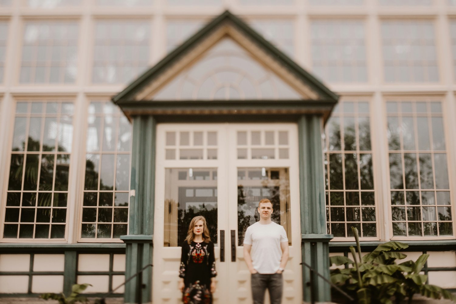 Rawlings Conservatory Baltimore greenhouse engagement session Baltimore engagement photographer