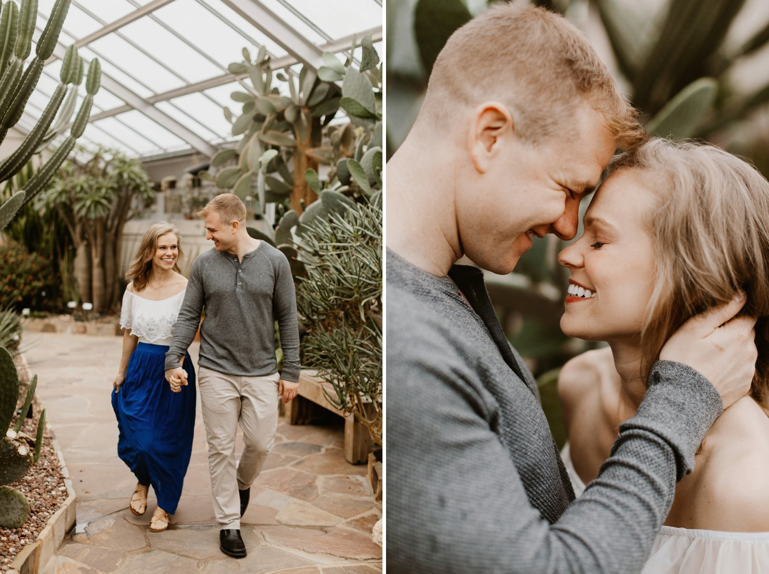 Rawlings Conservatory engagement session Baltimore engagement photographer