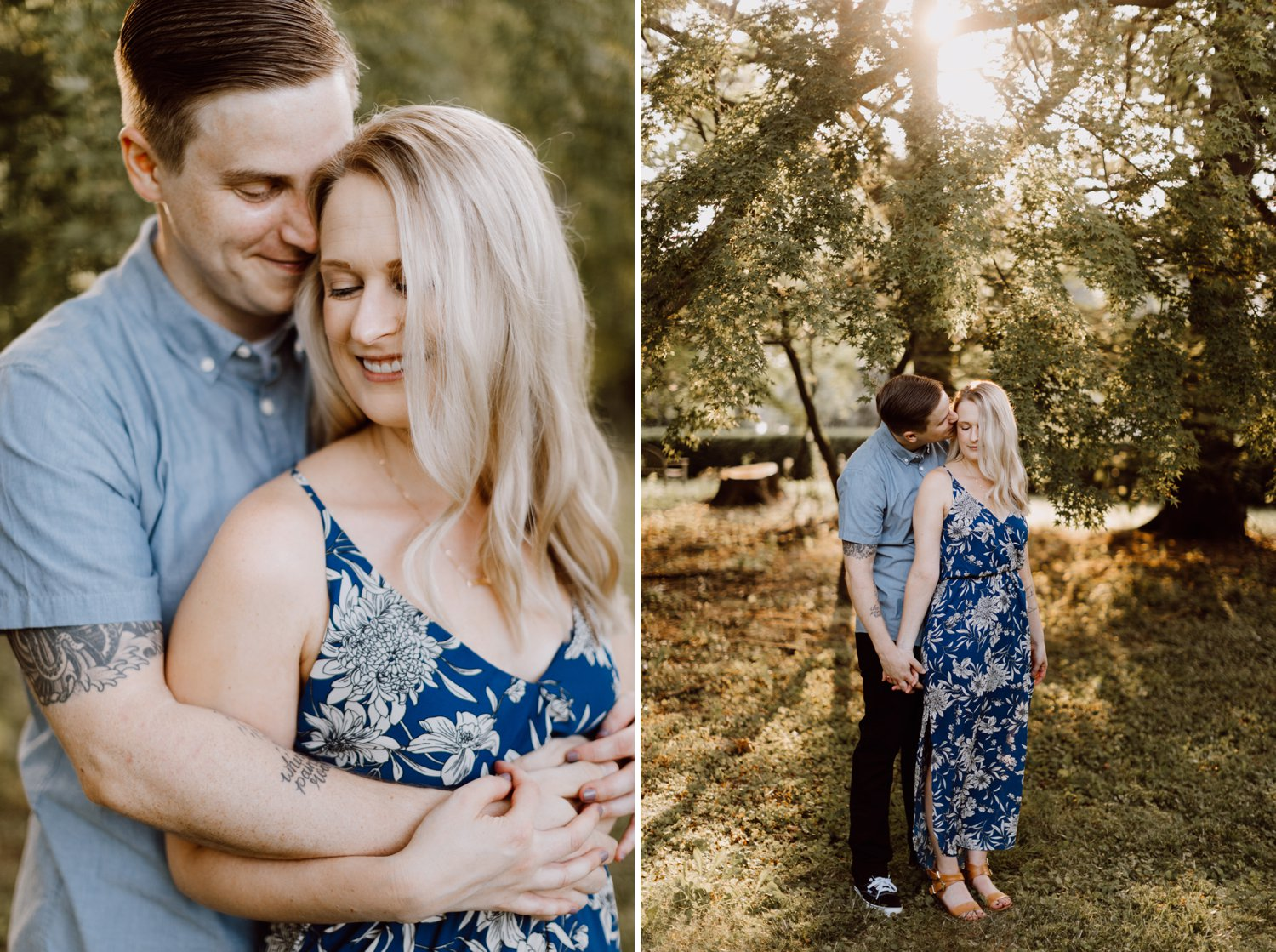 Clipper Mill engagement photography Cylburn Arboretum engagement photography Baltimore engagement photographer