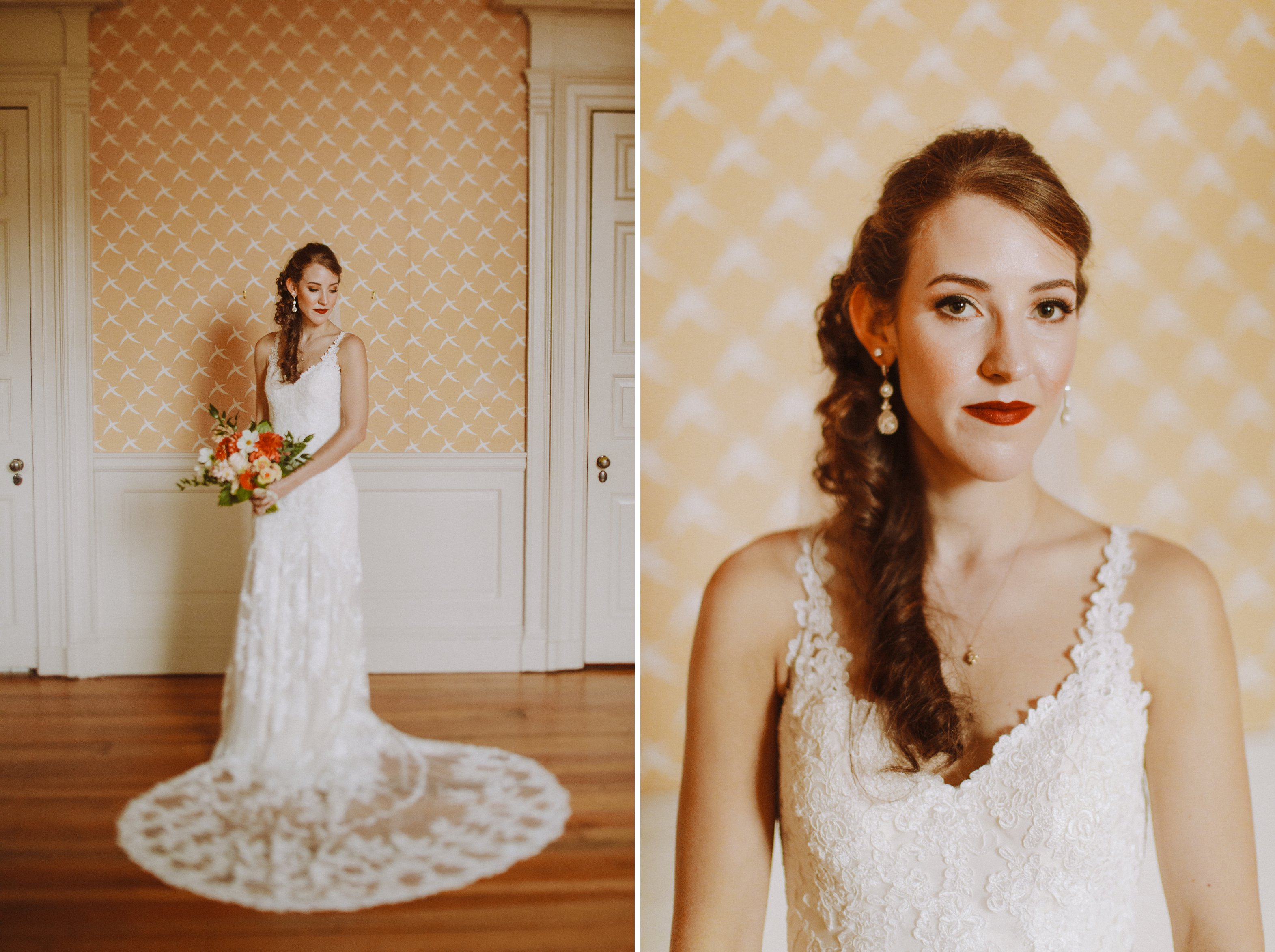 bridal portraits 1840s Ballroom Baltimore Maryland wedding photographer
