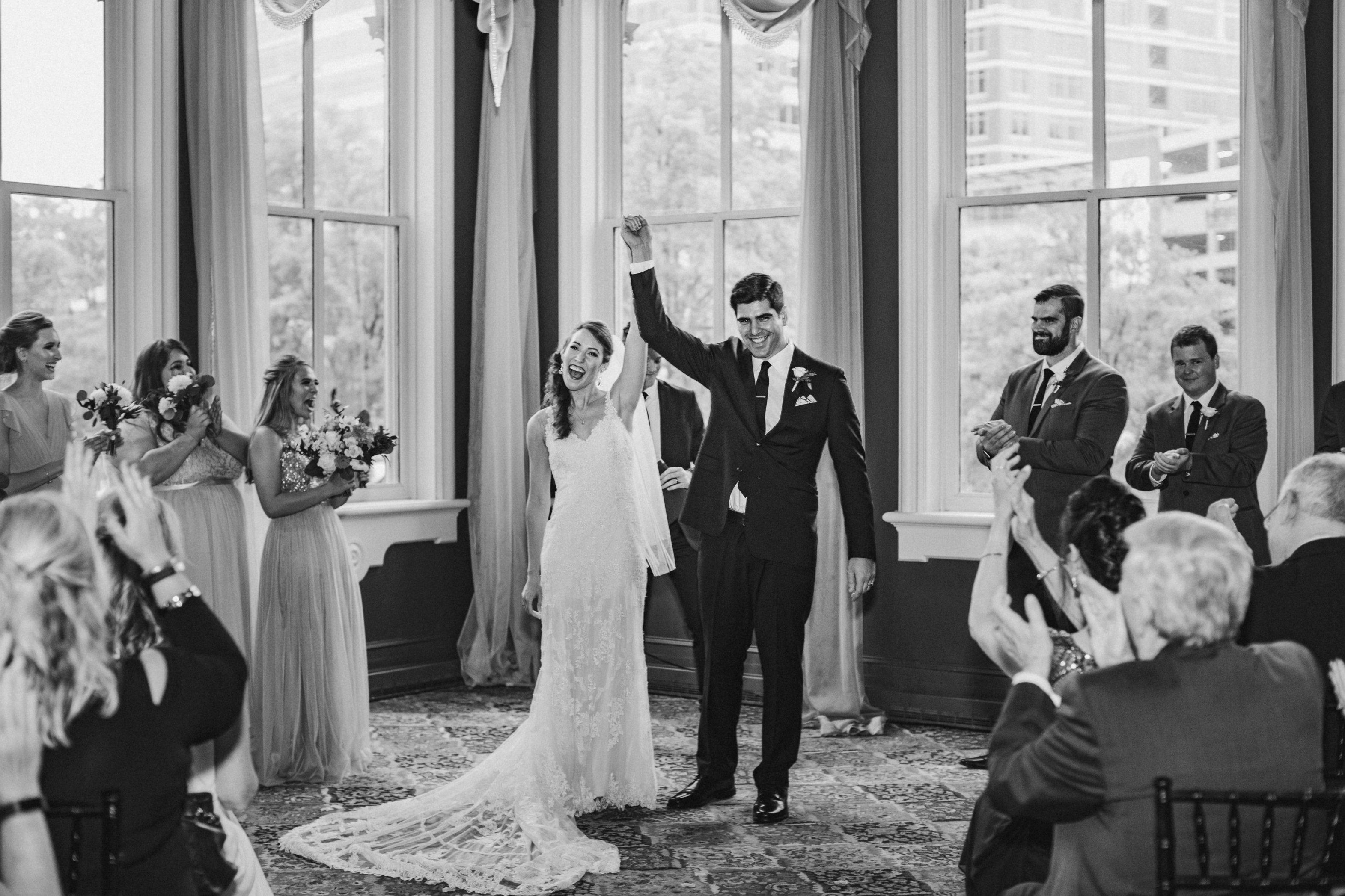 1840s Ballroom wedding ceremony Baltimore Maryland wedding photographer