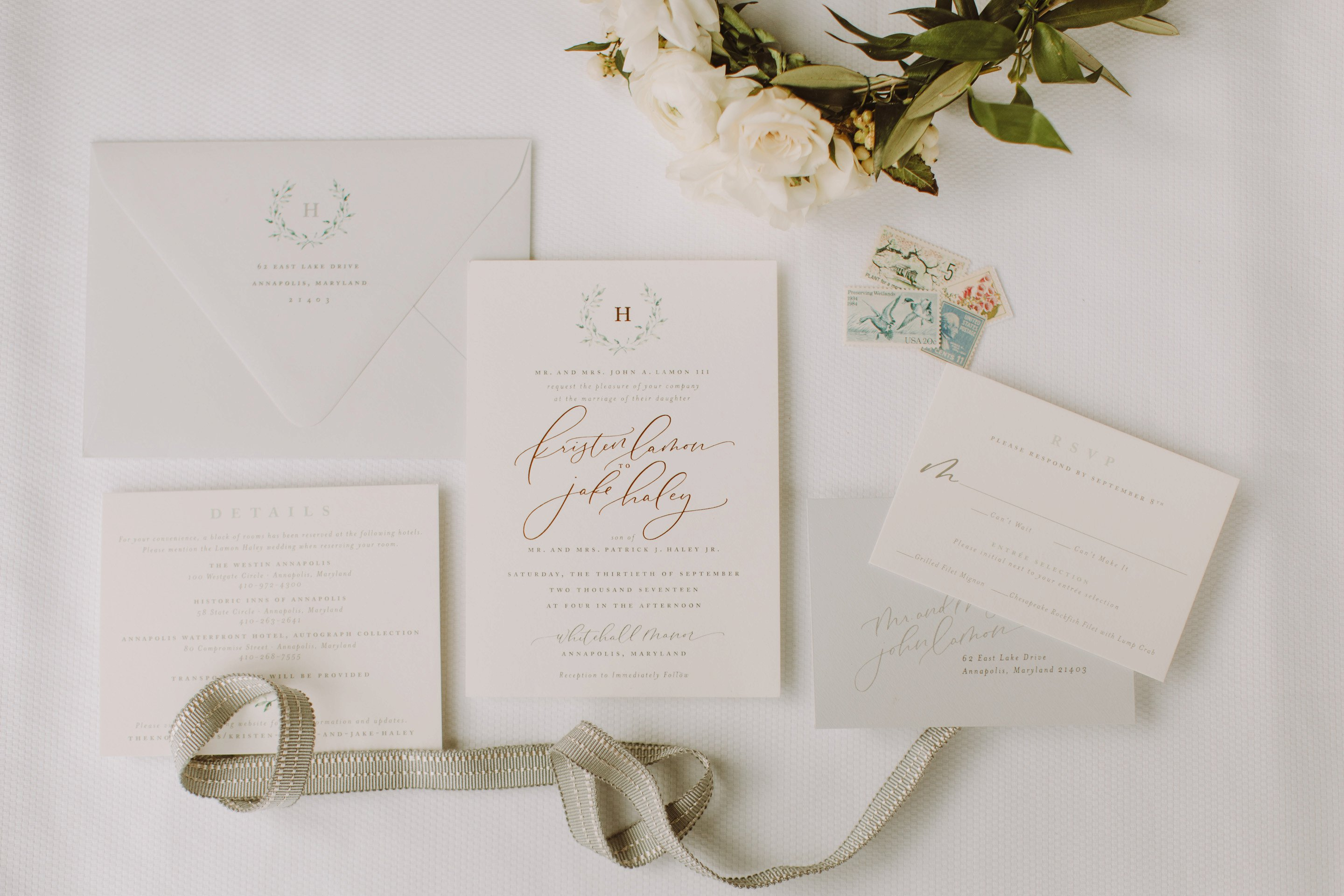 Stephaniebdesign wedding invitations Annapolis wedding photographer