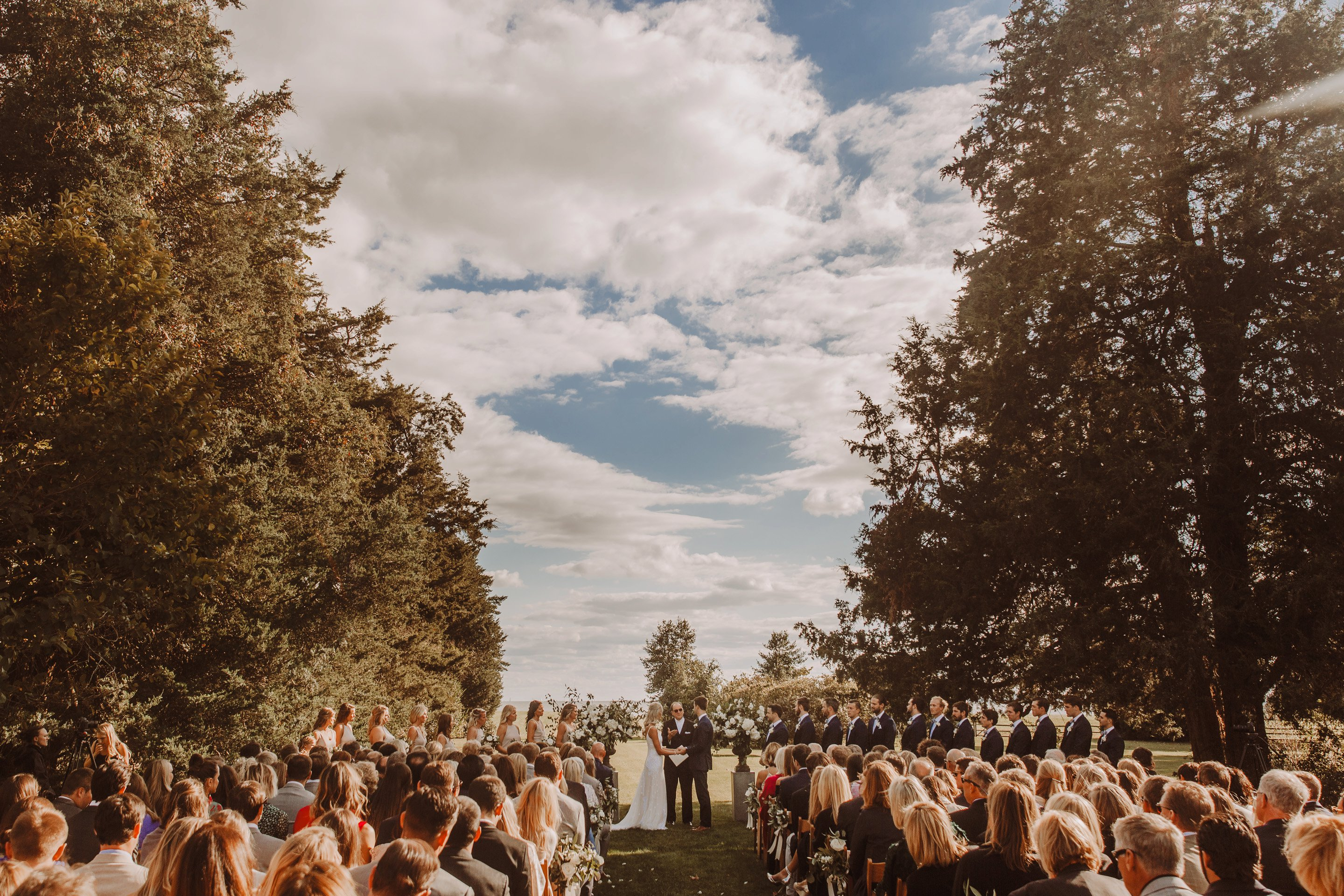 Whitehall Annapolis wedding outdoor ceremony Annapolis wedding photographer