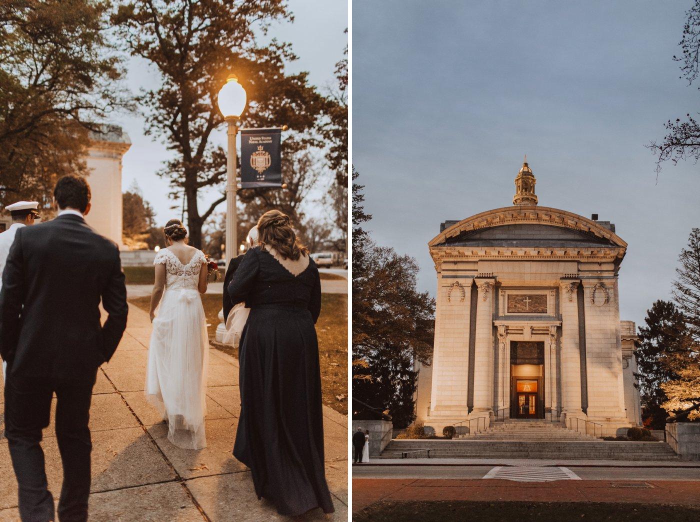 USNA chapel wedding Downtown Annapolis Maryland wedding photographer