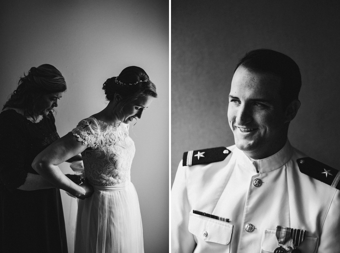 Downtown Annapolis Maryland wedding USNA wedding bride and groom