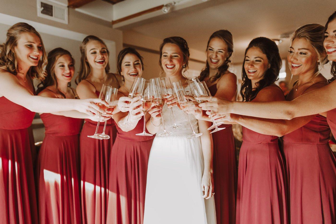 Downtown Annapolis USNA wedding bridesmaids first look Annapolis wedding photographer