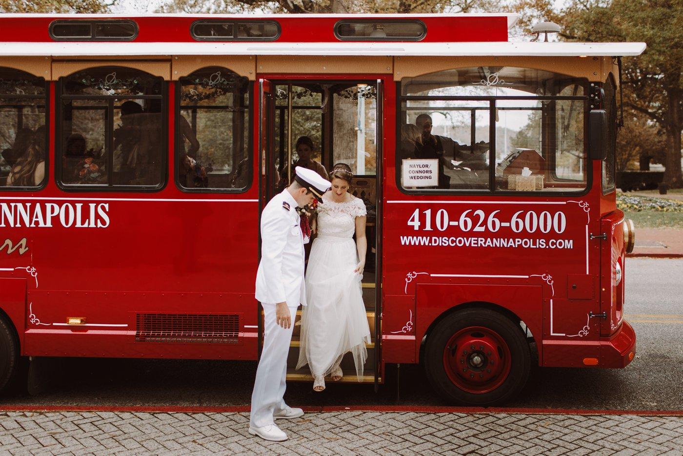 USNA Downtown Annapolis Maryland wedding bride and groom portraits Annapolis Maryland wedding photographer