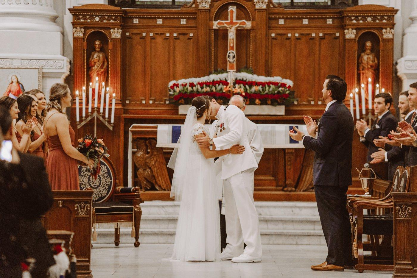 USNA chapel wedding ceremony Downtown Annapolis Maryland wedding photographer