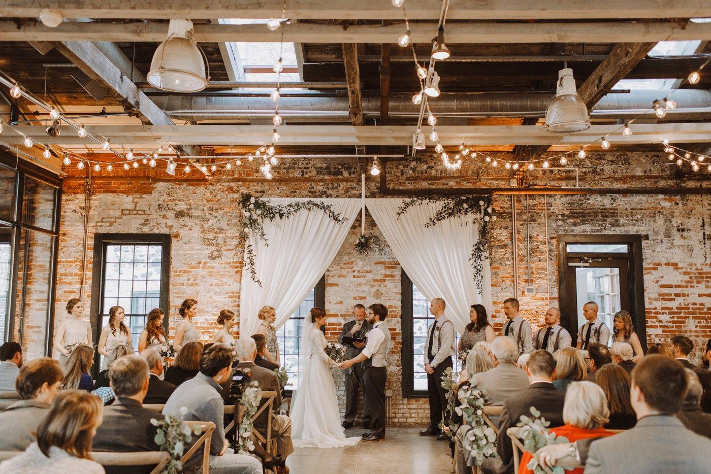 Mt. Washington Mill Dye House ceremony Baltimore wedding photographer