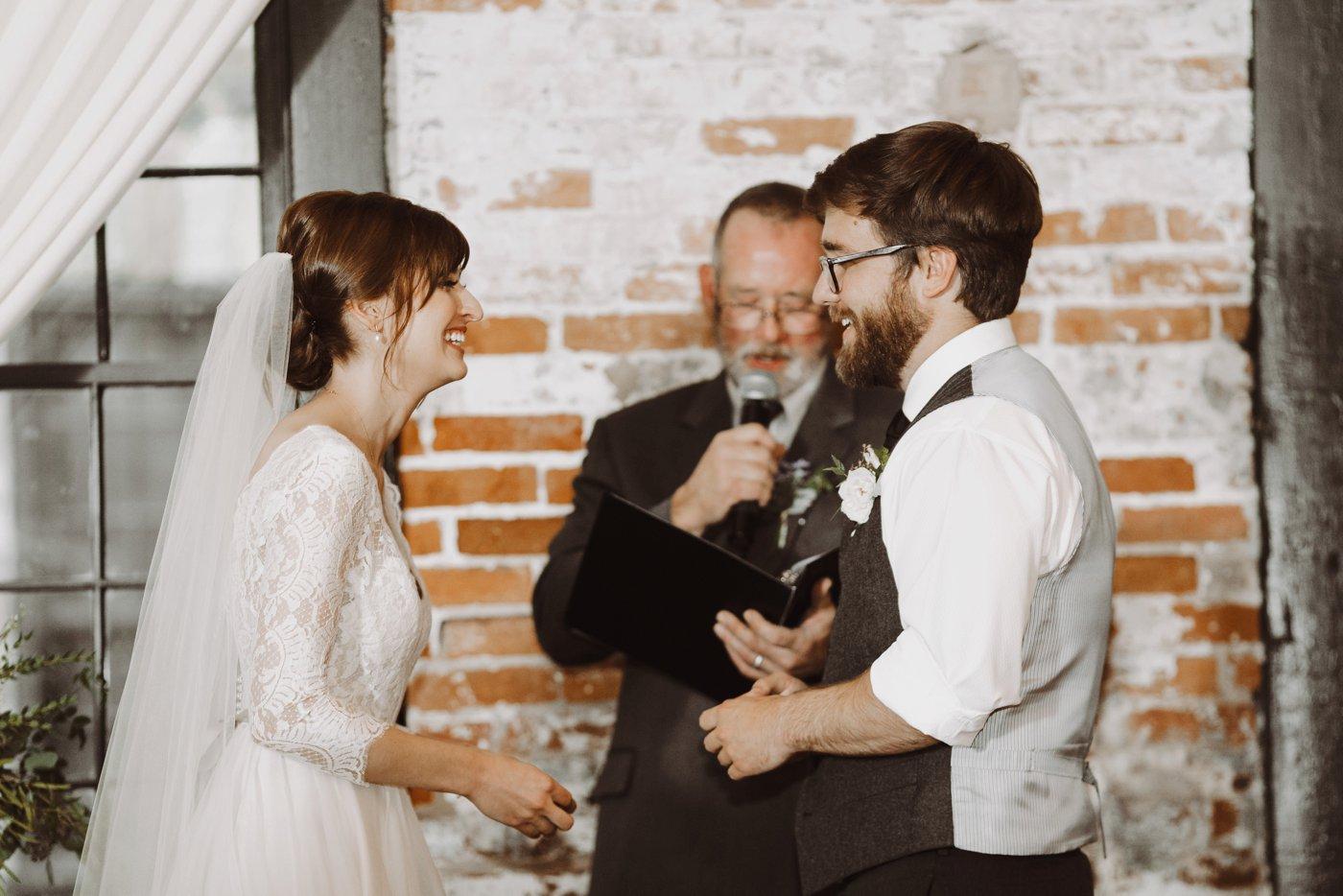 Mt. Washington Mill Dye House ceremony vows Baltimore wedding photographer
