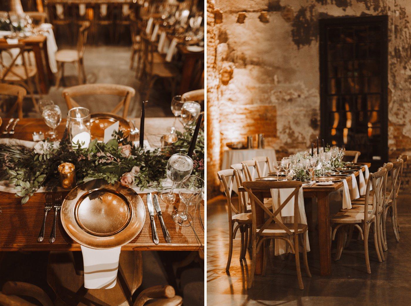 Baltimore wedding floral reception details