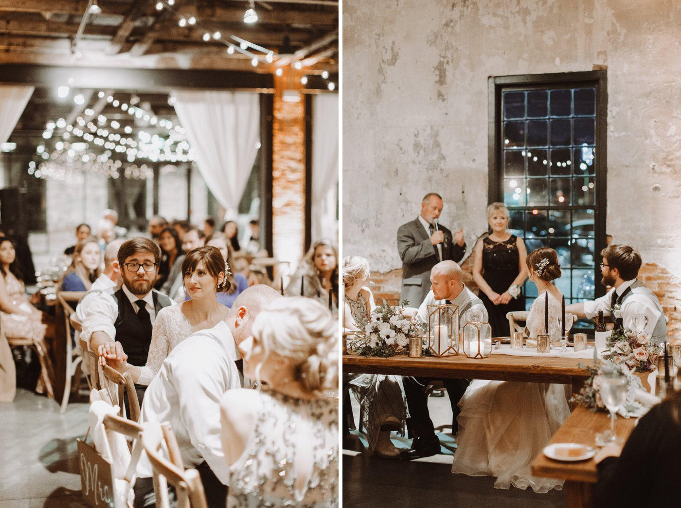 wedding ceremony toast Mt. Washington Mill Dye House Baltimore photographer