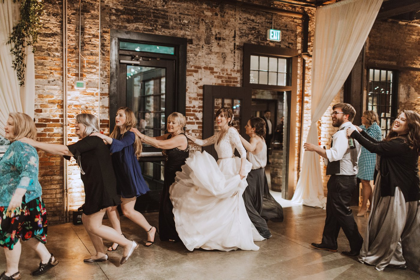 wedding reception dance Mt. Washington Mill Dye House Baltimore photographer