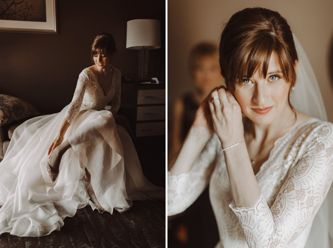 bridal portraits Mt. Washington Mill Dye House Baltimore wedding photographer