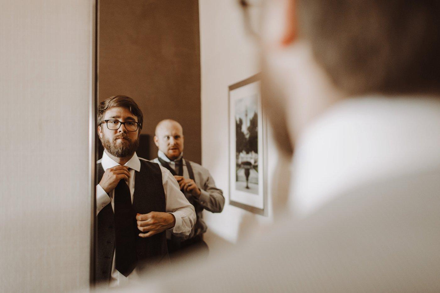 groomsmen getting ready details Mt. Washington Mill Dye House Baltimore wedding photographer
